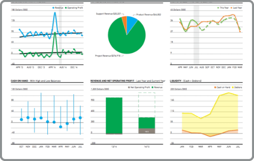 Financial controller accountancy screenshot