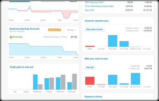 Finance manager accountancy screenshot