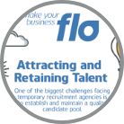 Attracting and retaining talent infographic