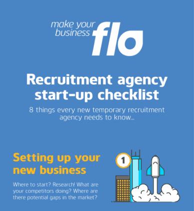 Recruitment agency start-up checklist illustration