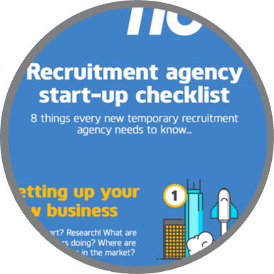 Recruitment agency start-up checklist infographic